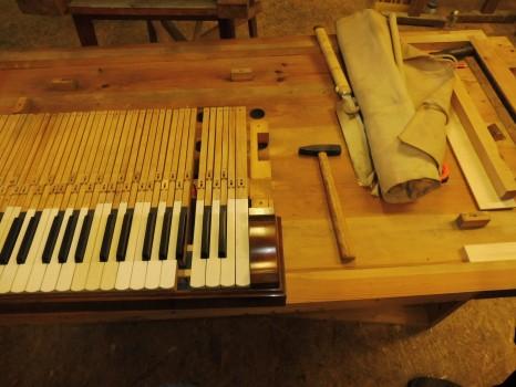 varhany - oprava klaviatury